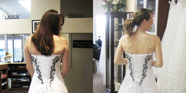 Before and After Wedding-Dress