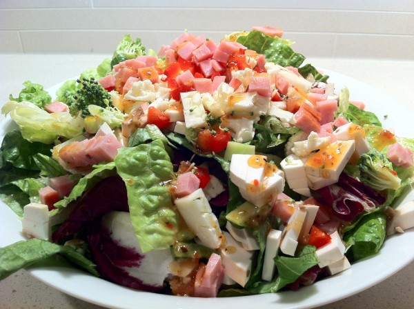 Salad with Ham and Veggies
