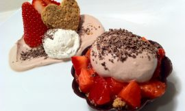 Deconstructed Strawberry Cheesecake