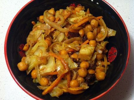 You are currently viewing Curried Cabbage and Chickpeas