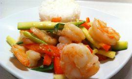 Vegetable Curry Shrimp Stir Fry