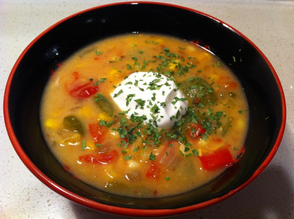Spicy Vegetable Corn Chowder