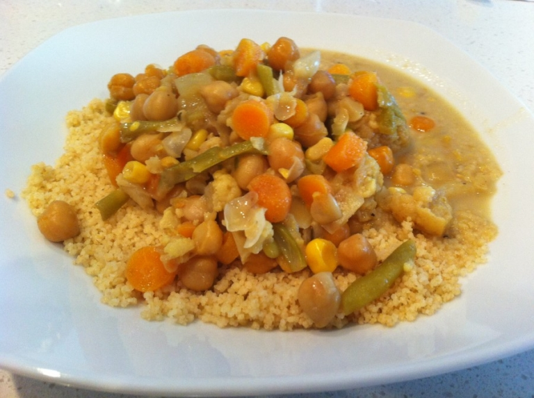 Curry Vegetables with Couscous